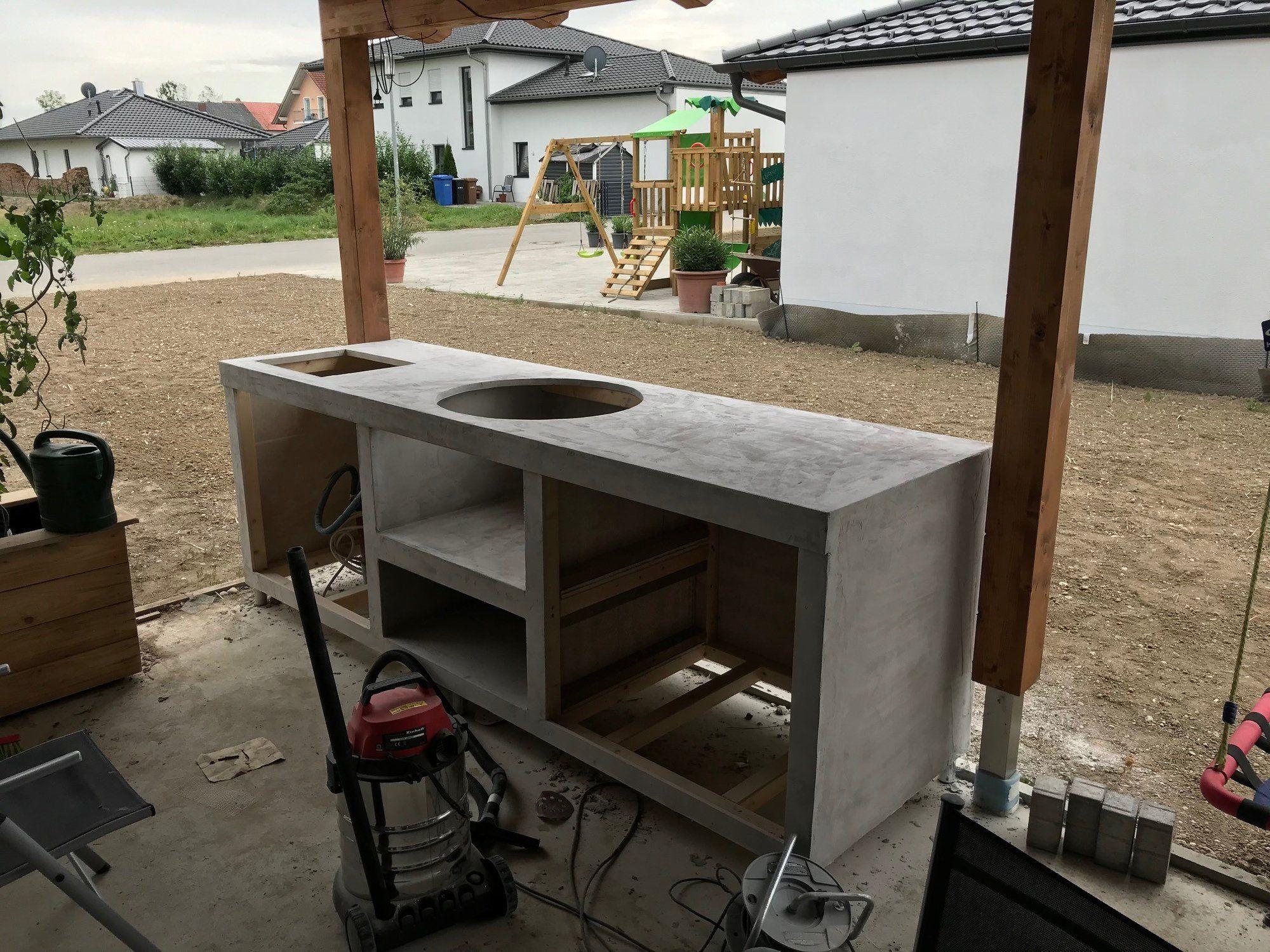 Meine Aussenkuche In Holzstanderbauweise Grillforum Und Bbq Www Grillsportverein De In 2020 Outdoor Grill Kuche Aussenkuche Holzstanderbauweise