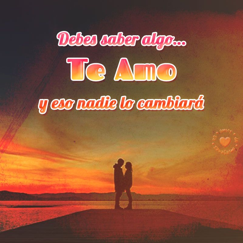 Bonita Postal De Amor Con Frase Te Amo Amar De Pinterest