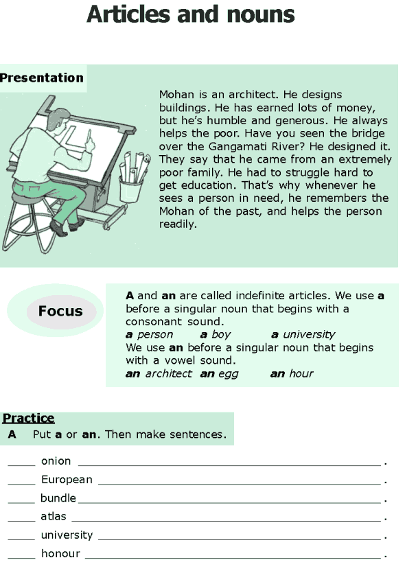Grade 6 Grammar Lesson 6 Articles And Nouns 0 Educational