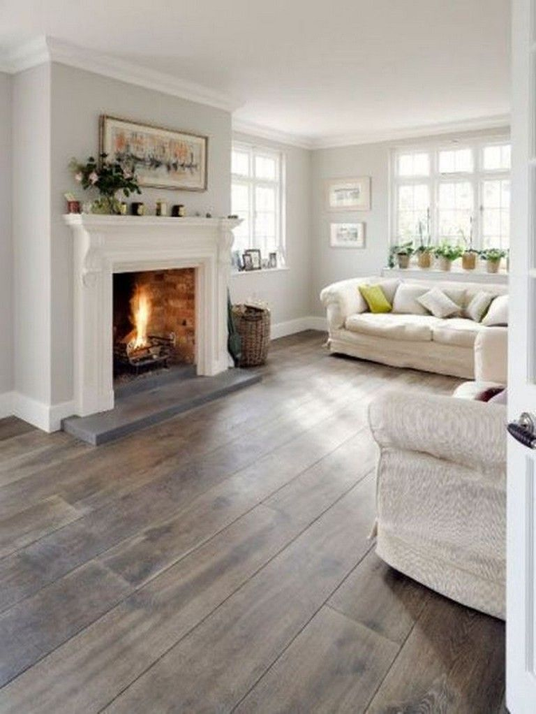 47 Simple Natural Wooden Vinyl Planks For Home Interior Flooring Farmhouse Style Living Room Decor Grey Walls Living Room Farmhouse Decor Living Room