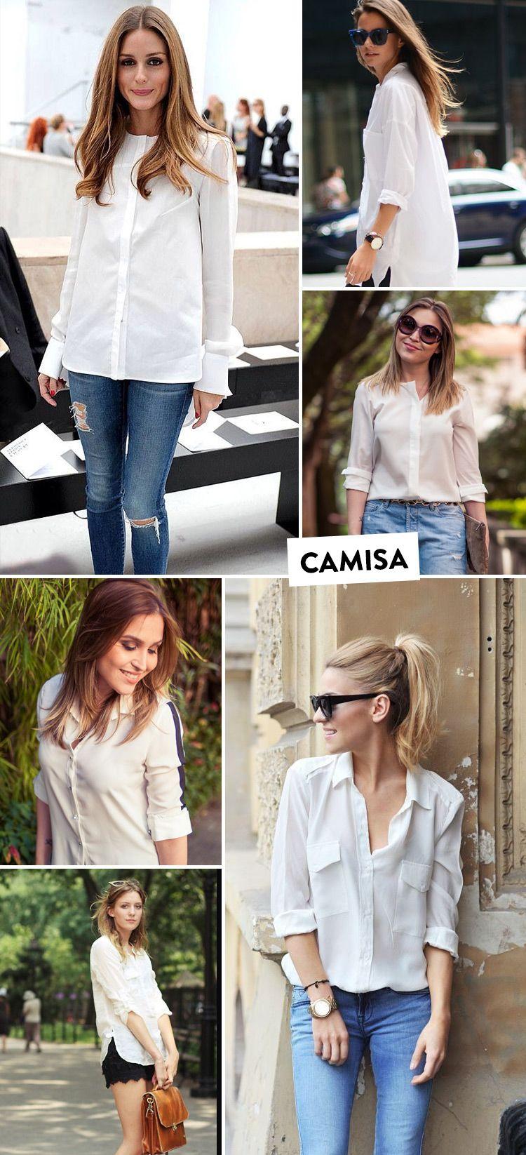 Meus Classicos Da Moda Com Imagens Moda Camisa Branca E Jeans