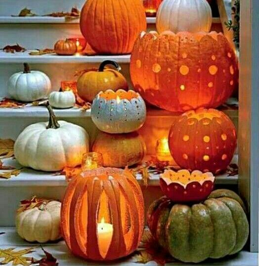 autumn pumpkins so gorgeous arts crafts pinterest halloween k rbisse schnitzen und. Black Bedroom Furniture Sets. Home Design Ideas