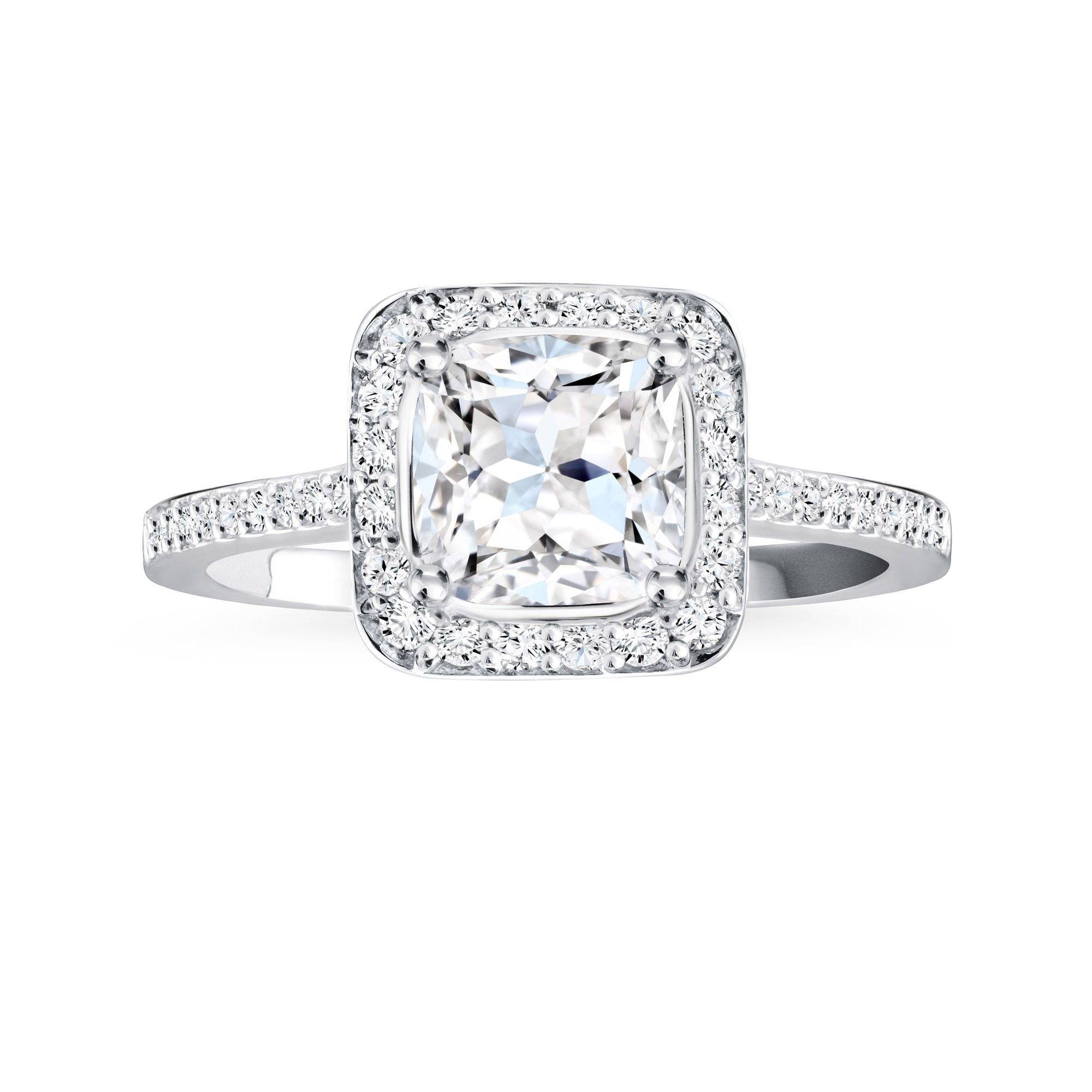 This Ring Is Stunning Platinum Pave Canadian Diamond Engagement