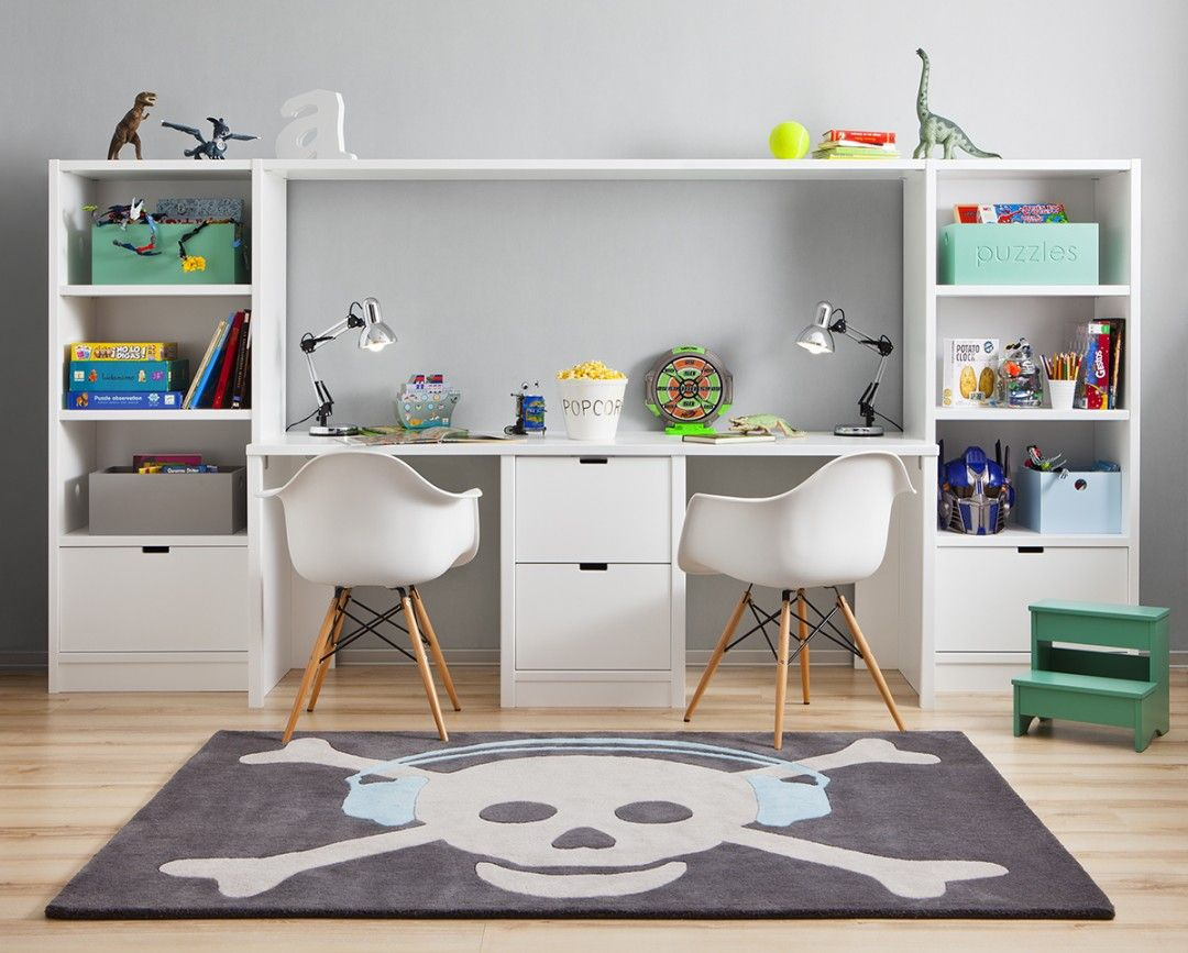 Kids Double Desk Google Search Ikea Kids Room Small Kids Room Kid Room Decor