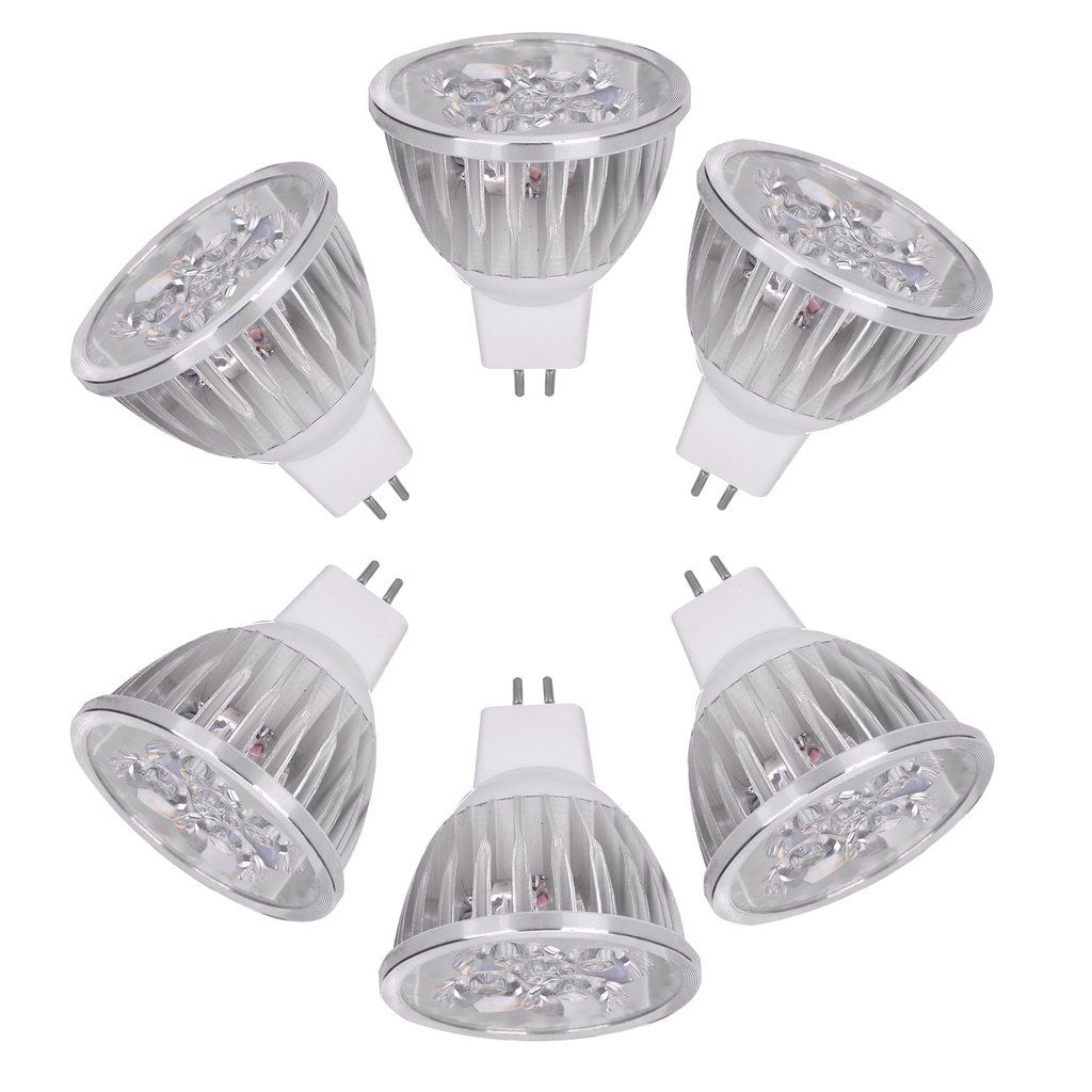 Ac Dc 12v 4 Watt Led Recessed Light Bulb Mr16 Gu5 3 Bi Pin Spot Lamp 6 Pack Lowvoltage En Recessed Light Bulbs Led Recessed Light Bulbs Recessed Lighting