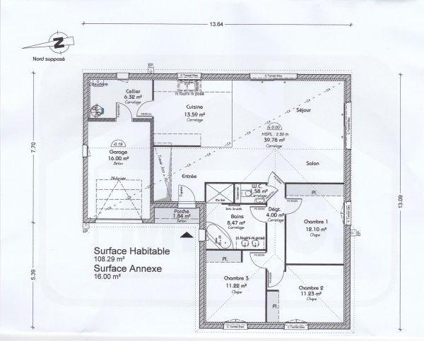 plan de notre maison en l de pp 110m2 27 messages forumconstruire