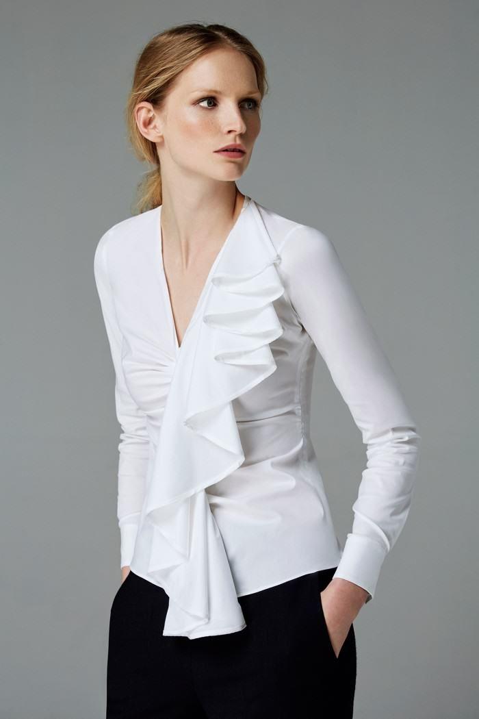The White Shirt | Carolina Herrera | Ideas | Tops | Pinterest ...