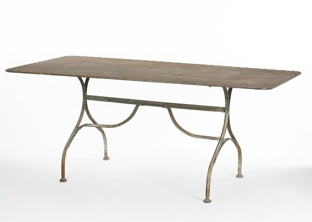 """Industrial Chic - South of Market - Iron Dining Table - $4750 (L: 71"""" × D: 35.5 in × H: 29.5 in)"""