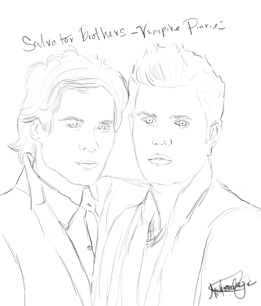 Vampire Diaries Coloring Pages Vampire Drawings Vampire Diaries Cartoon Girl Drawing