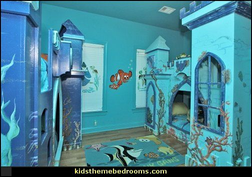 underwater bedroom ideas   under the sea theme bedrooms   mermaid theme  bedrooms   sea life bedrooms   Little mermaid princess Ariel   Sponge Bob  theme. girl Themed Bed       theme bed under the sea theme bedrooms