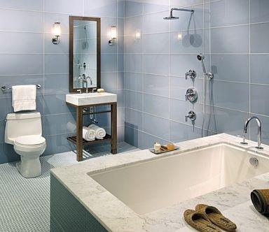 12x24 glass tile, gray blue | House: Master | Tiles ...