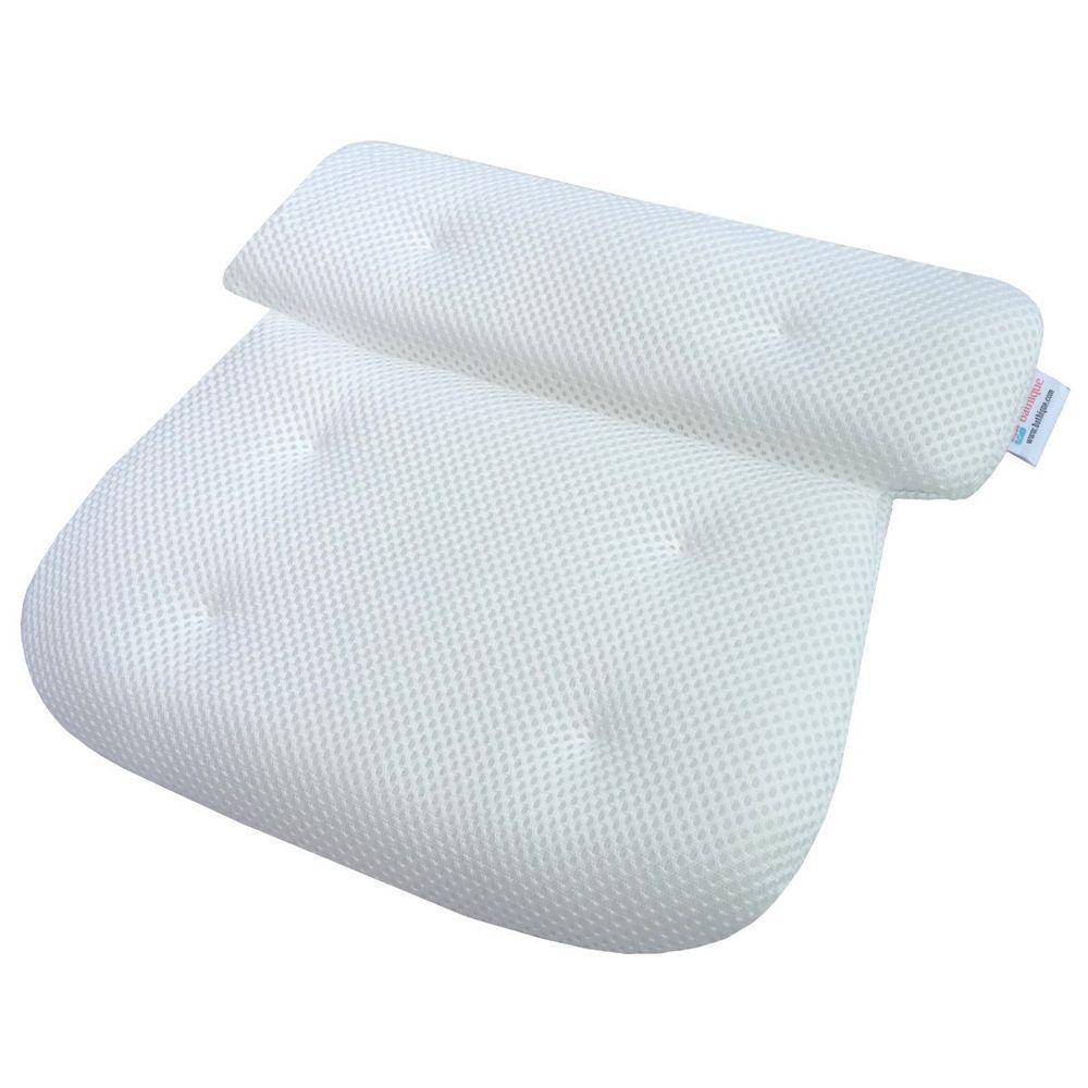 Large Bath Pillow Cushion Non Slip Suction Cups White Adults Kids ...