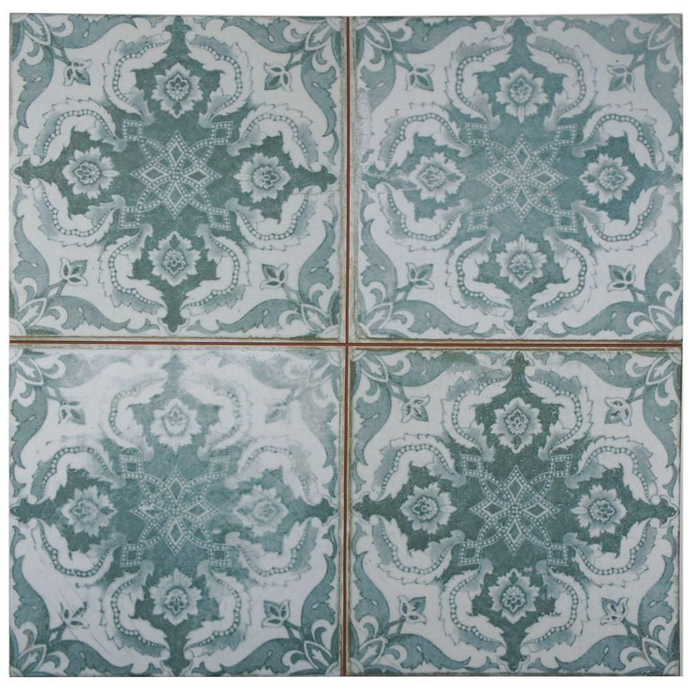 Merola Tile Kings Seagate 17-3/4 in. x 17-3/4 in. Ceramic Floor and ...
