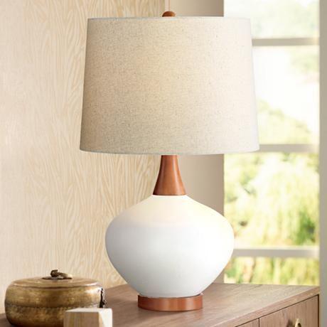 Ivory Ceramic Table Lamp, Ivory Ceramic Table Lamps