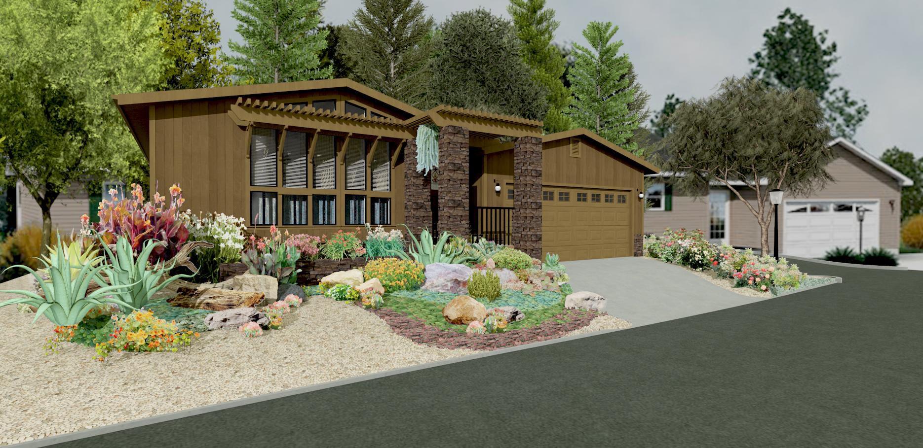 landscaping with rock garden ideas great backyard designs
