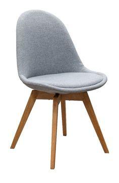 Designbotschaft: Davos Stuhl Grau/ Eiche   Esszimmerstühle 1 Stck