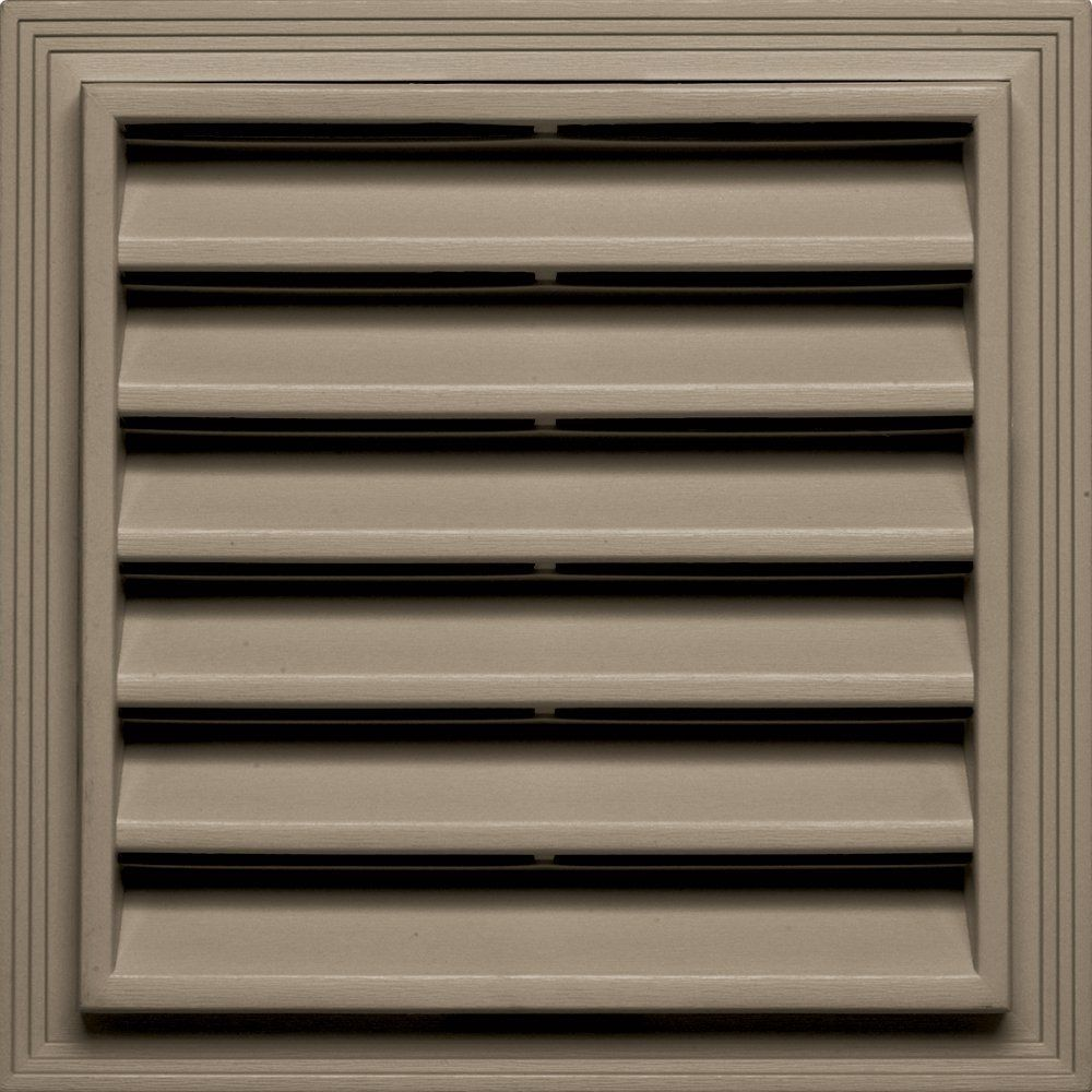 Builders Edge 120051212095 12 X 12 Square Vent 095 Clay Learn More By Visiting The Image Link Builders Edge Gable Vents Fiberglass Screen