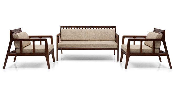 Ticotti Wooden Sofa Standard Set 2 1 1 Wooden Sofa Set Wooden Sofa Wooden Sofa Designs