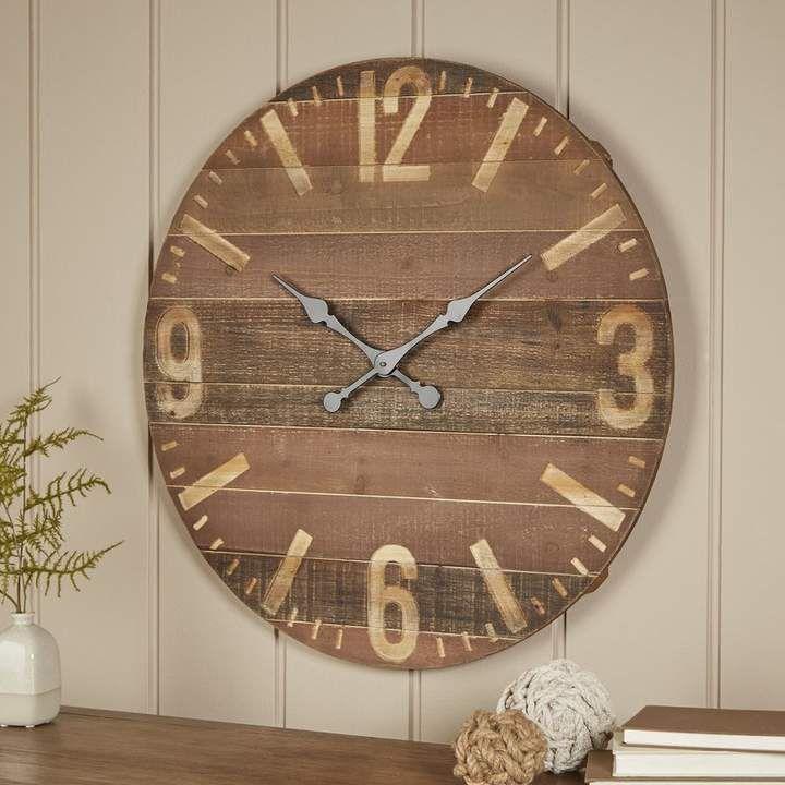 Birch lane fawkes wall clock large farmhouse wall clock