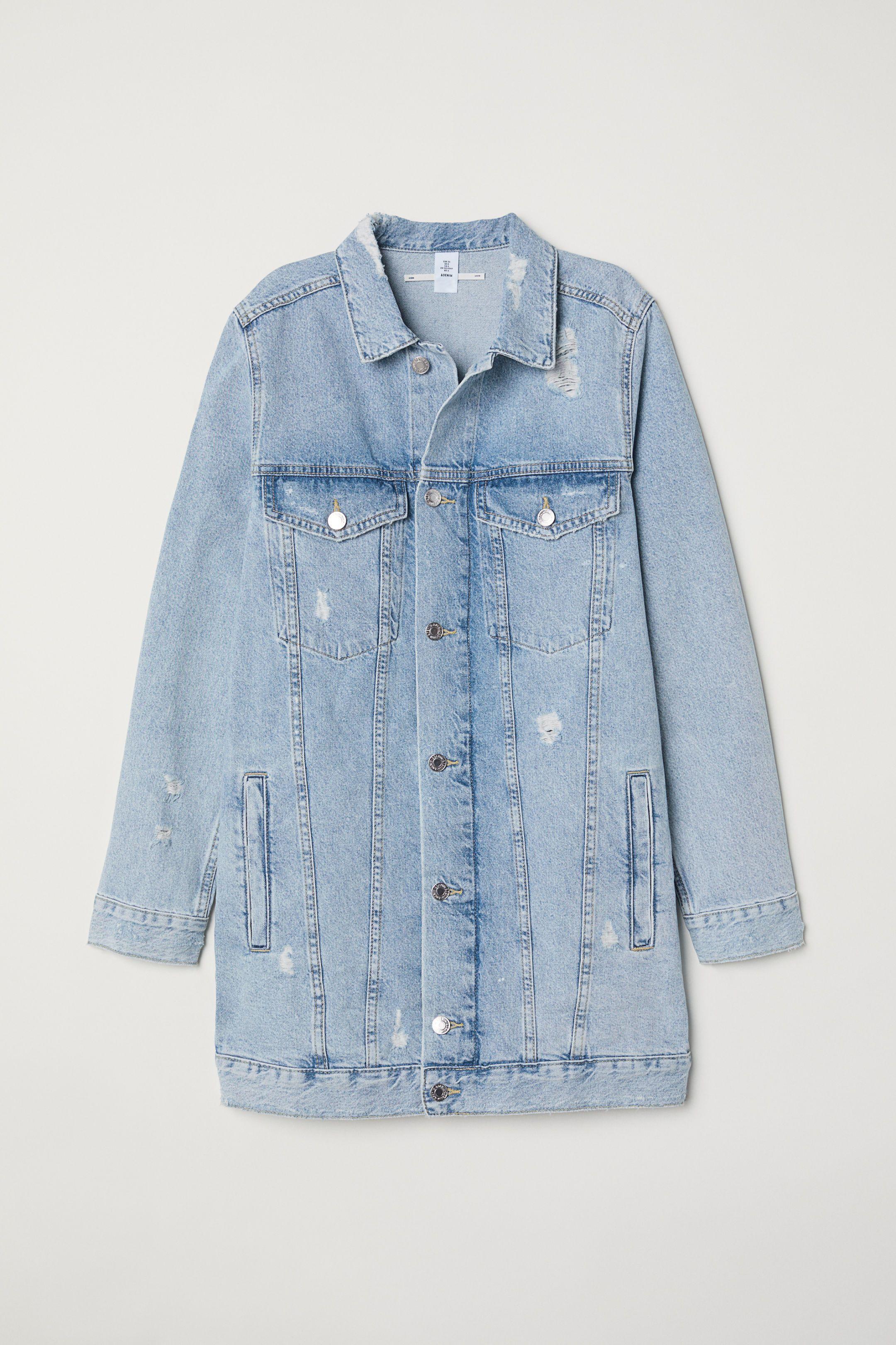 0cce05aeec36 Long Denim Jacket - Light denim blue Trashed - Ladies