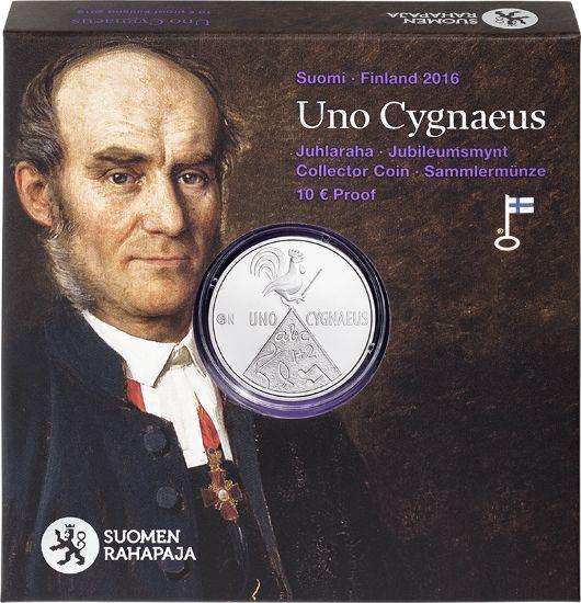 Uno Cygnaeus ja kansanopetus -juhlaraha 10 €, proof