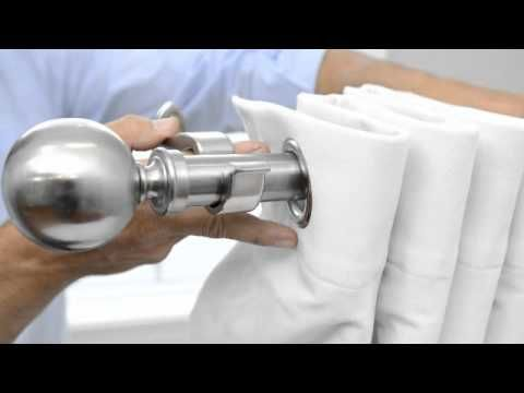 How To Hang Grommet Curtains Panels Youtube Diy Ideas