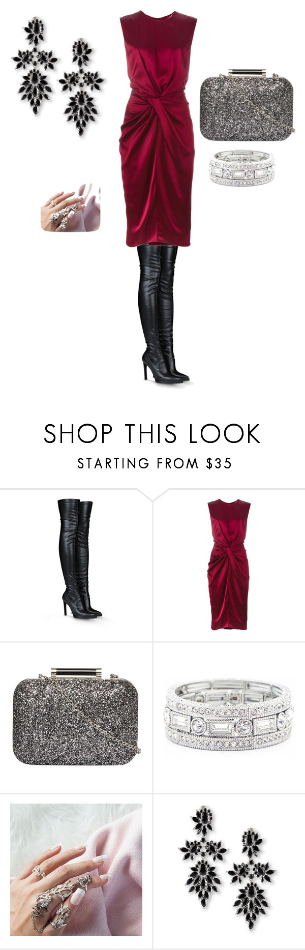 """""""christmas party"""" by maryemmanuel on Polyvore featuring STELLA McCARTNEY, Camilla and Marc, Dorothy Perkins, Sole Society and Fallon"""