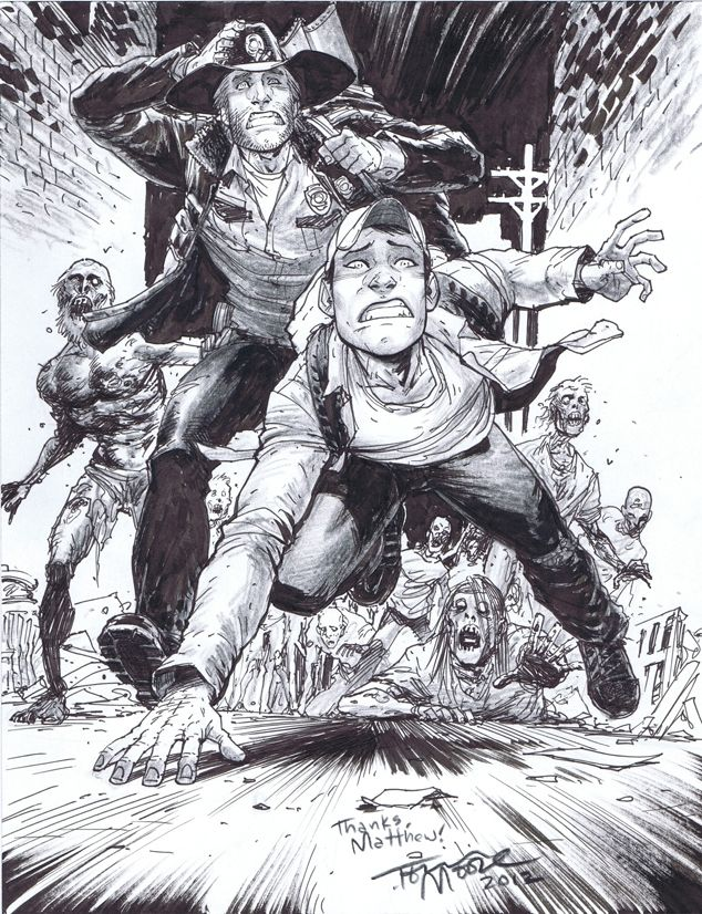 Walking Dead Commissions By Tony Moore Comic Pinterest Dessin