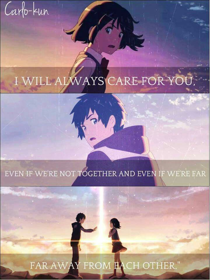 Taki and Mitsuha | Anime love quotes, Your name quotes ...