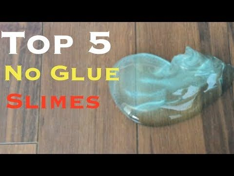 Water Slime How To Make Clear Slime Without Glue Without Borax
