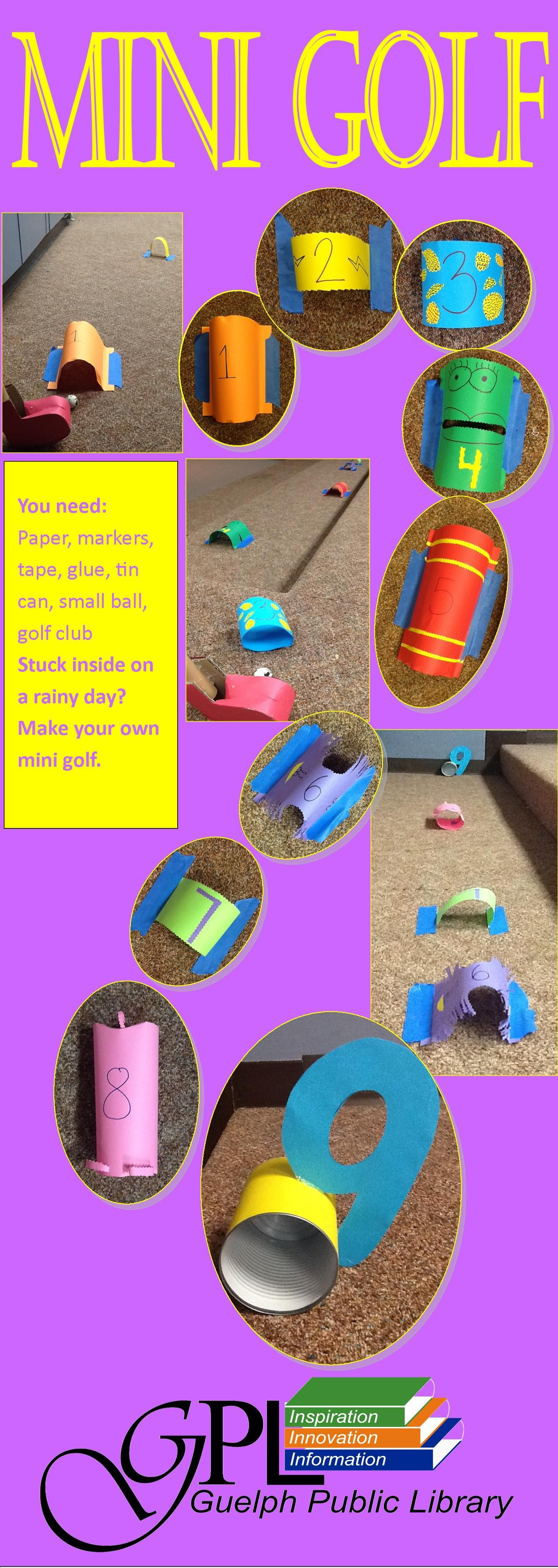Stuck inside on a rainy day? Make your own mini golf