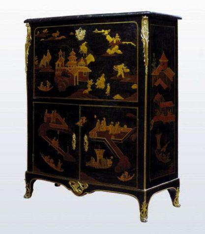 le mobilier en laque de chine au xviiie si cle laque secr taire et chine. Black Bedroom Furniture Sets. Home Design Ideas