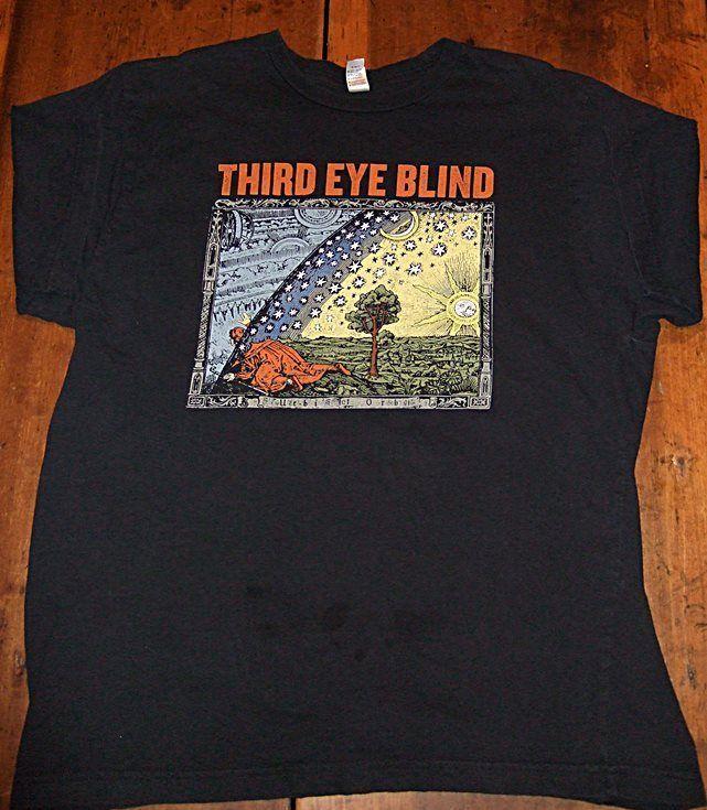 Size Large Third Eye Blind T Shirt Music Band Black 2010