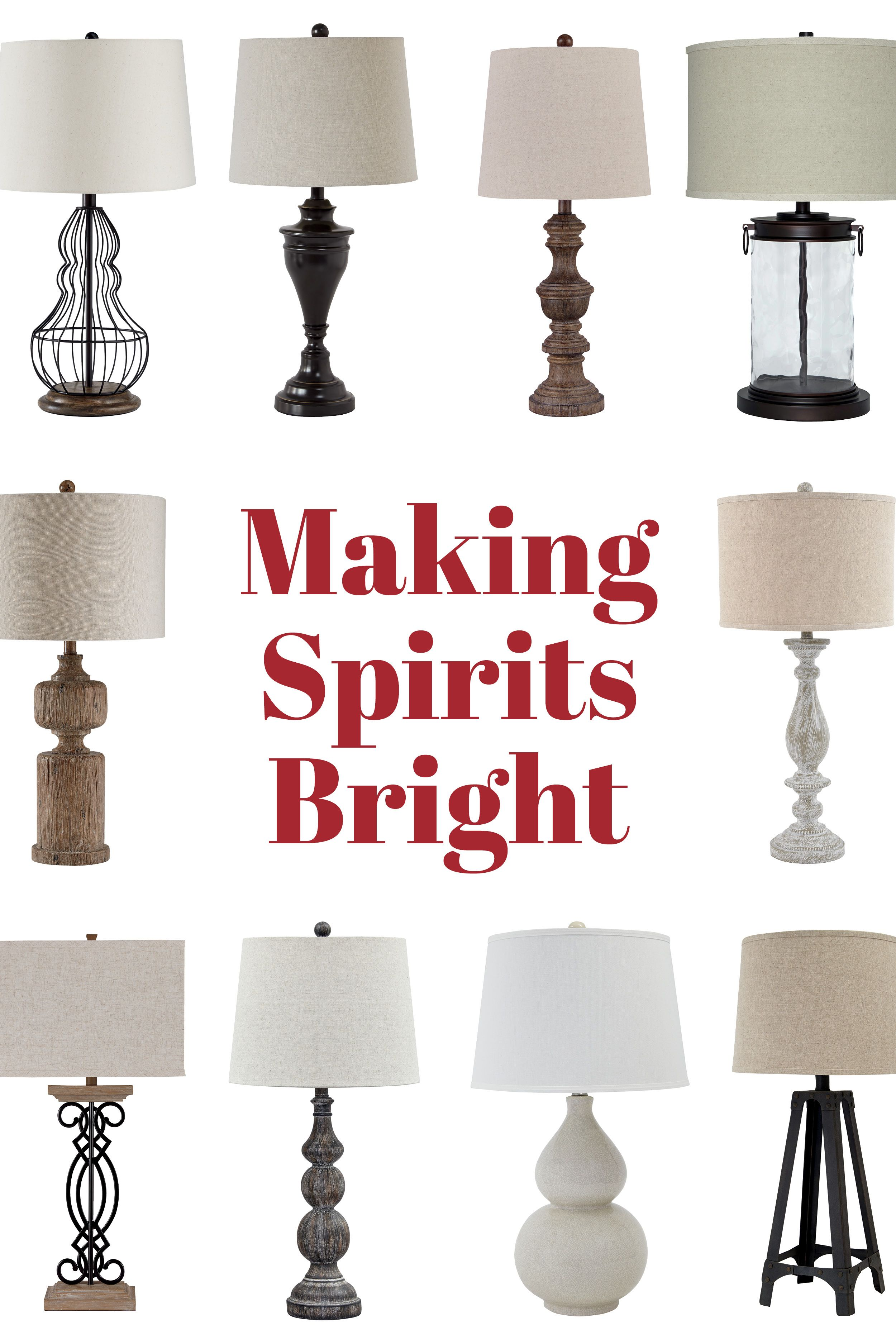 Make Spirits Bright With These Lamps From Ashley Furniture Holidaydecor Ashleyfurniture Ashley Furniture Making Spirits Bright