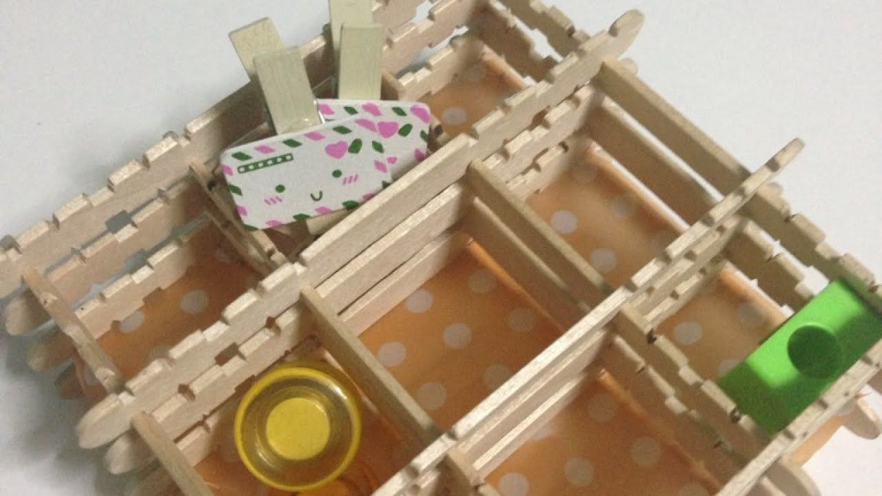 How To Create A Cute Popsicle Stick Organizer Diy Home Tutorial Guidecentral Diy Popsicle Stick Crafts Craft Stick Projects Popsicle Stick Diy
