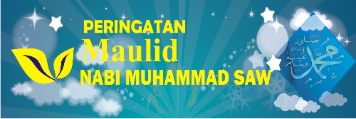Template Banner Maulid Cdr - Contoh Banner Isro Mi'raj Terbaru
