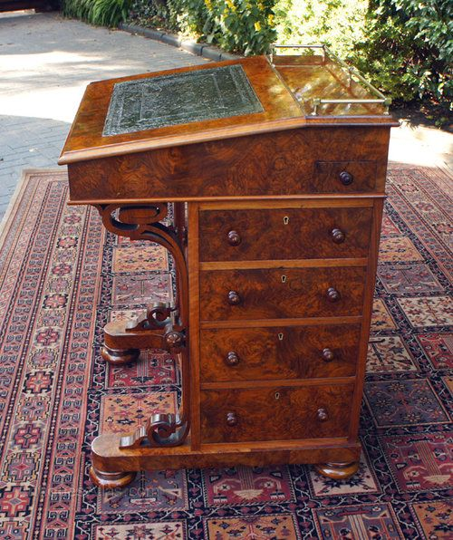 Antique Davenport Desk In Figured And Burr Walnut Antiques Atlas Woodworking Plans