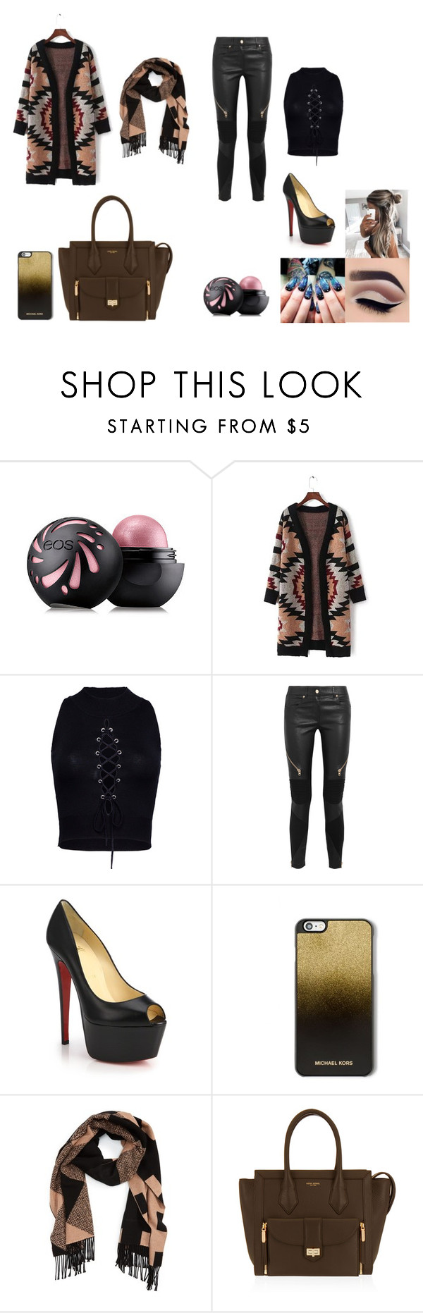 """Unbenannt #28"" by kazumi-black-770 on Polyvore featuring Mode, Eos, WithChic, Givenchy, Christian Louboutin, MICHAEL Michael Kors, Burberry und Henri Bendel"