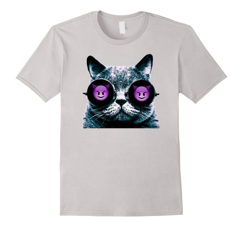 fb6144c6 Amazon.com: Emoji - Devil Cat Eyes - For Anyone Who Loves Cats - Buzz:  Clothing