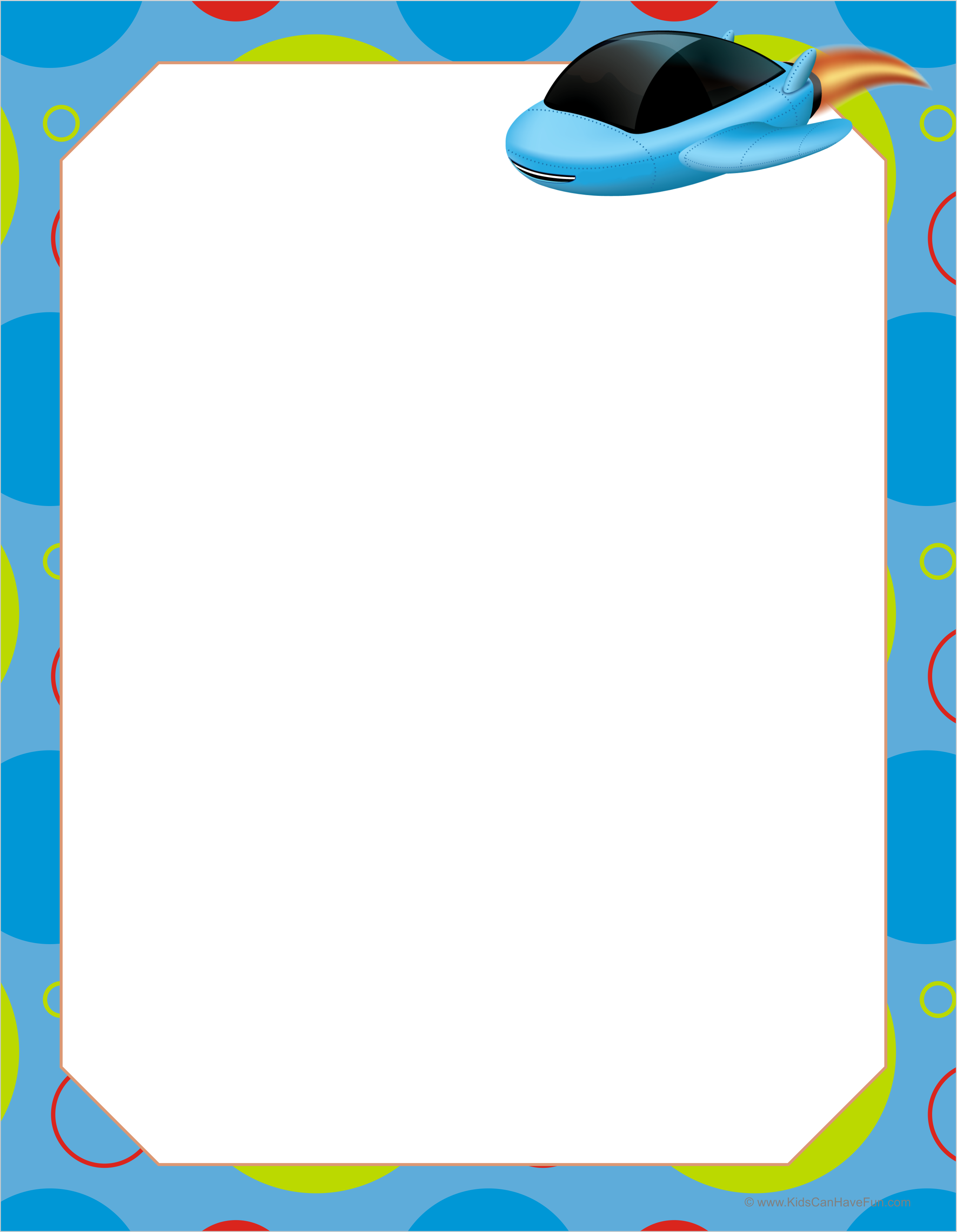 Spaceship Blank Paper For Writing Or Drawing With Images