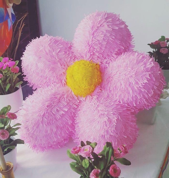 flower pi ata from a rainbow birthday party on kara 39 s