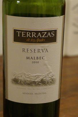 Terrazas 2010 Reserva Malbec From Mendoza Argentina Wine