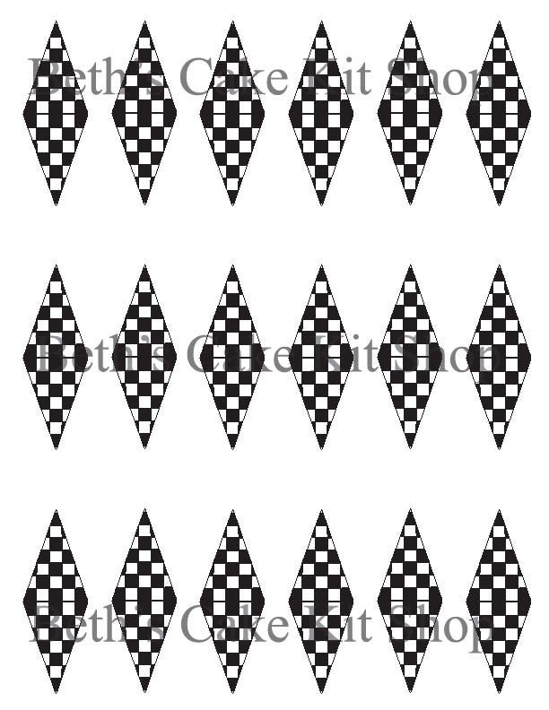 Printable Racing Checkered Flag Finish Line Download Cupcake Or Cake Topper By BethsCakeKitShop On Etsy