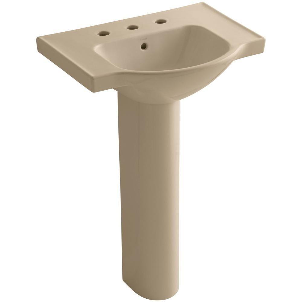 Kohler Veer 24 In Vitreous China Pedestal Combo Bathroom Sink In