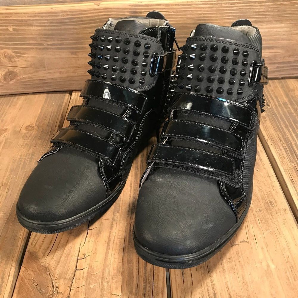 Esal U Studded High Top Sneakers Size