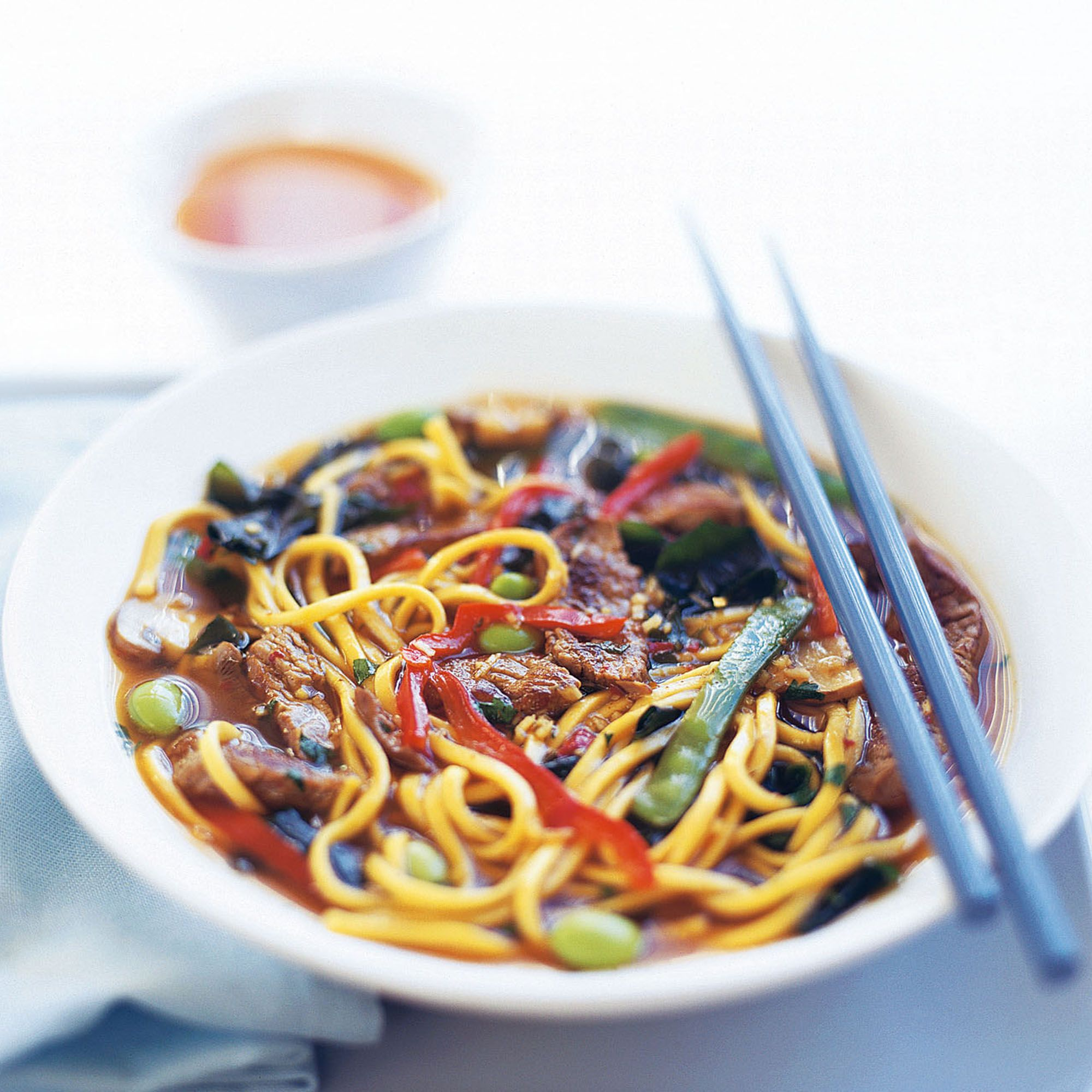 Beef and ginger broth with noodles recipe noodle beef and ginger broth with noodles healthy asian recipeshealthy foodhealthy forumfinder Image collections