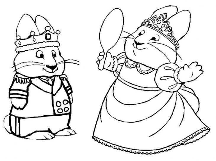 Free Coloring Page Of Max And Ruby Playing King And Queen Nick