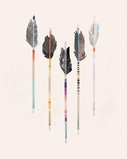 Julia Kostreva ARROWS Digital Illustration Of Vintage Arrows