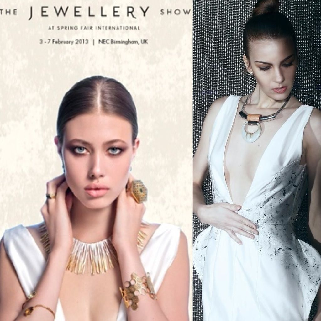 Tina Lobondi Dress For The Jewellery Show Campaign