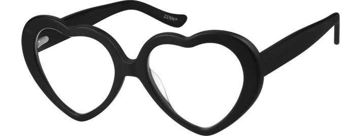 White Prescription Heart-Shaped Glasses #4420230 | Zenni Optical ...